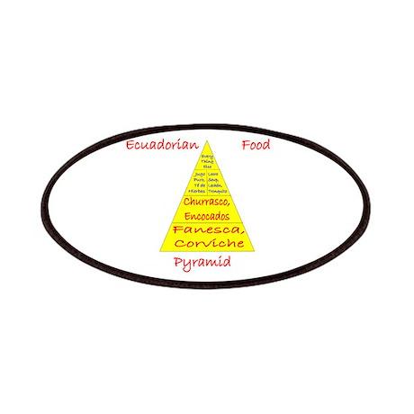 Ecuador Food Pyramid Patches