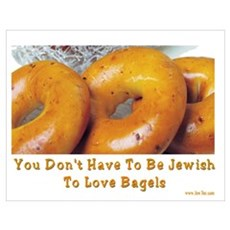 Love Bagels Poster