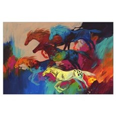 Colorful Running Horses - Bachelor Party Poster