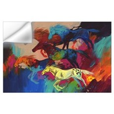 Colorful Running Horses - Bachelor Party Wall Decal