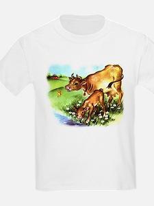 Cute Cow Calf Farm T-Shirt