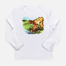 Cute Cow Calf Farm Long Sleeve Infant T-Shirt