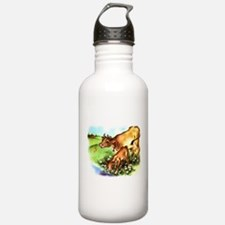 Cute Cow Calf Farm Water Bottle