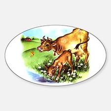 Cute Cow Calf Farm Decal