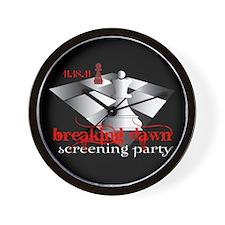 Breaking Dawn Screening Party Wall Clock