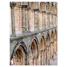 Jedburgh Abbey Arches Poster