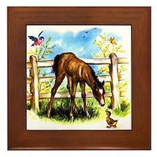 Cute Foal Horse Pony Filly Framed Tile