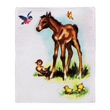 Baby Horse Pony Foal Filly Throw Blanket