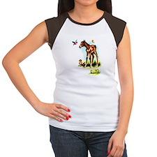 Baby Horse Pony Foal Filly Women's Cap Sleeve T-Sh