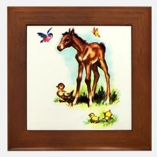 Baby Horse Pony Foal Filly Framed Tile