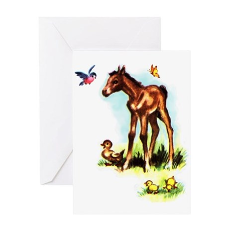 Baby Horse Pony Foal Filly Greeting Card