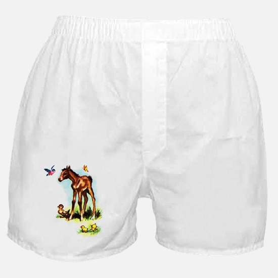 Baby Horse Pony Foal Filly Boxer Shorts