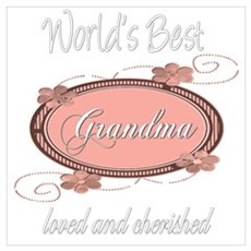 Cherished Grandma Poster