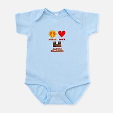 Peace Love Album Hoarding Infant Bodysuit