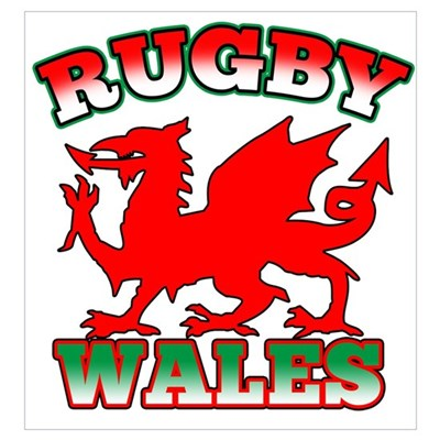 Rugby Wales Flag Canvas Art