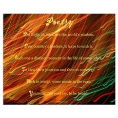Poetry (Acrostic Poem) Poster