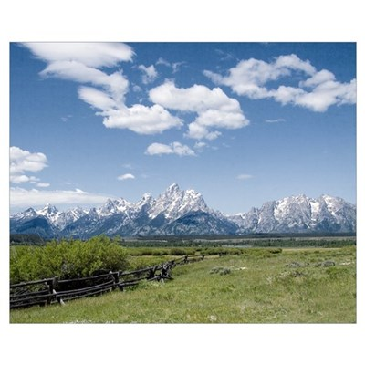 Teton Fence Canvas Art