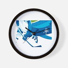 Funny Hockey fights Wall Clock