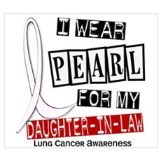 I Wear Pearl For My Daughter-In-Law 37 Framed Pane Poster