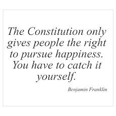 Benjamin Franklin quote 137 Poster