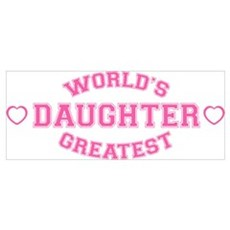 World's Greatest Daughter Canvas Art