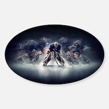 Cute Ice rink Sticker (Oval)