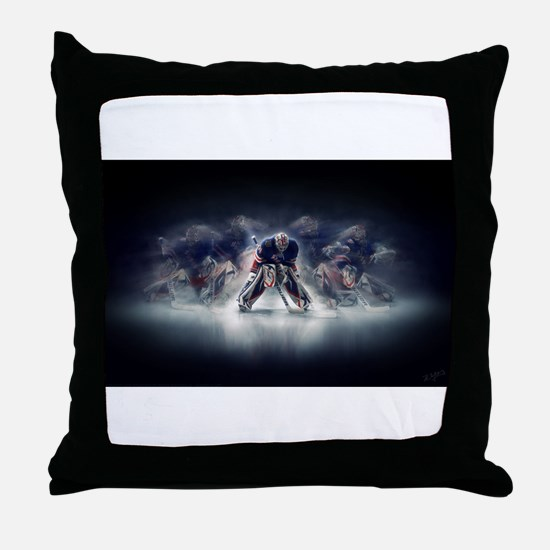 Cute Ice rink Throw Pillow