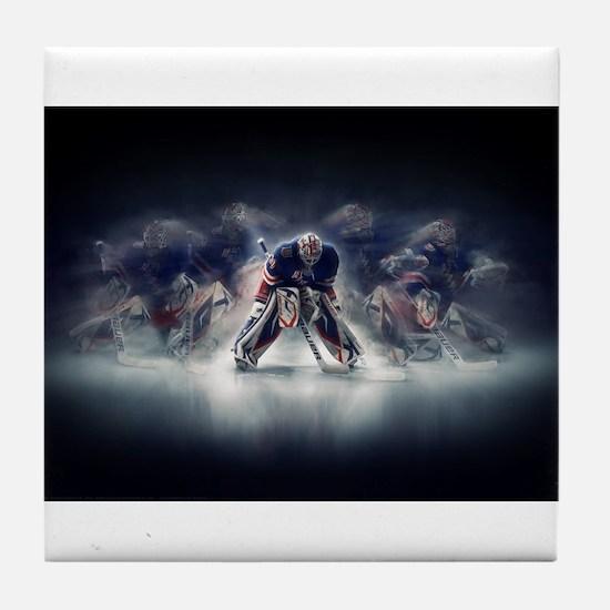 Unique Ice hockey Tile Coaster