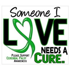 Needs A Cure 2 CEREBRAL PALSY Poster