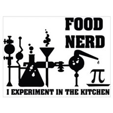 Food Nerd Framed Print