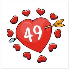 49th Valentine Poster