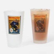 Cool Hockey fight Drinking Glass
