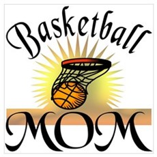 Basketball Mom Canvas Art