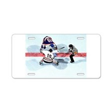 Funny Rink Aluminum License Plate