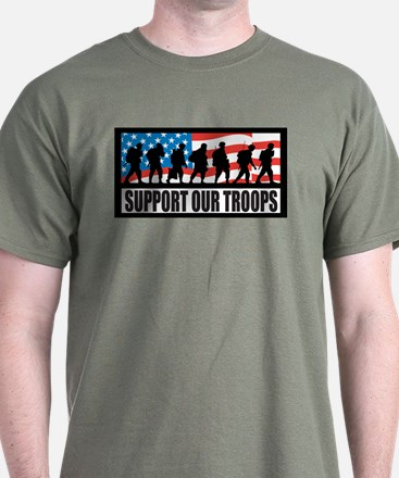 Support our troops - Infantry T-Shirt