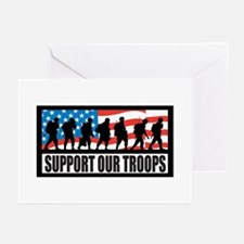 Support our troops - Infantry Greeting Cards (Pack