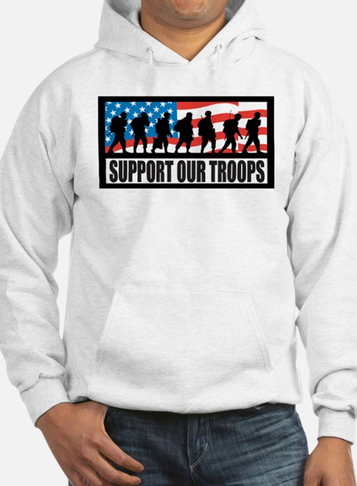 Support our troops - Infantry Hoodie