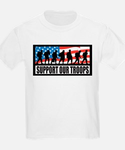 Support our troops - Infantry Kids T-Shirt