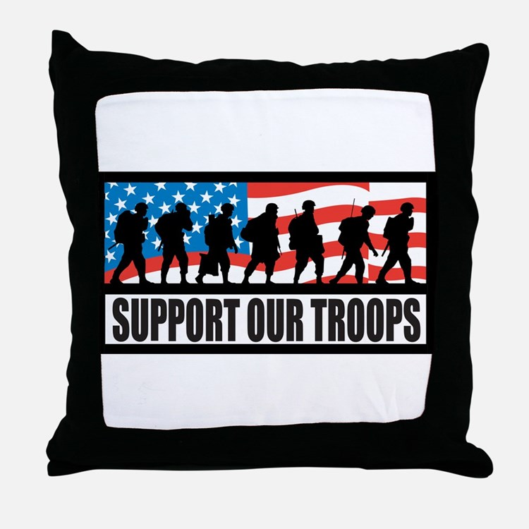Support our troops - Infantry Throw Pillow