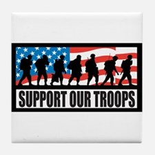 Support our troops - Infantry Tile Coaster