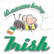 Awesome Being Irish Poster