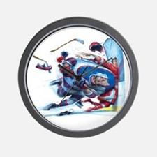 Unique Hockey fights Wall Clock