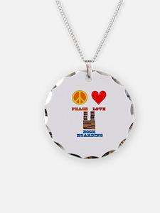Peace Love Book Hoarding Necklace