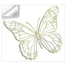 Embossed Butterfly Wall Decal