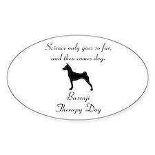 Basenji Therapy Dog Decal