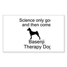 Basenji Therapy Dog Stickers