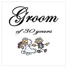 Groom of 30 Years Framed Print