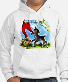 Funny Clothesline Goat Hoodie