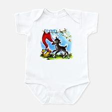Funny Clothesline Goat Infant Bodysuit