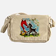 Funny Clothesline Goat Messenger Bag